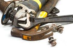 Reeks metaal werkende hulpmiddelen Royalty-vrije Stock Foto's