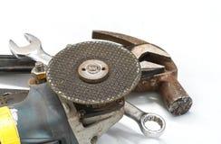 Reeks metaal werkende hulpmiddelen Stock Foto