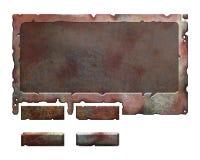 Reeks metaalelementen stock illustratie