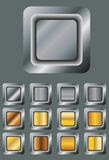Reeks metaalknopen Royalty-vrije Stock Afbeelding