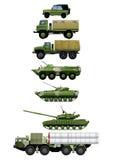 Reeks militaire voertuigen Royalty-vrije Stock Fotografie