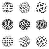Reeks minimalistic vormen vector illustratie