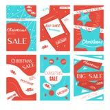 Reeks mobiele banners voor online het winkelen Vectorillustraties voor website en mobiele website sociale media banners, affiches Stock Afbeelding
