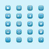 Reeks mobiele blauwe vectorelementen voor UI-Spelontwerp vector illustratie