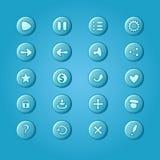 Reeks mobiele heldere blauwe vectorelementen voor UI-Spelontwerp stock illustratie