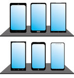 Reeks Mobiele Telefoons Royalty-vrije Stock Afbeelding
