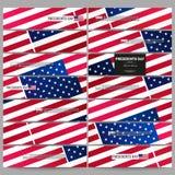 Reeks moderne banners De achtergrond van de voorzittersdag met Amerikaanse vlag, abstracte vectorillustratie Royalty-vrije Stock Foto