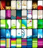 Reeks moderne, elegante kleurrijke adreskaartjes Stock Foto