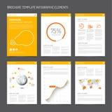 Reeks moderne het ontwerpmalplaatjes van de brochurevlieger Royalty-vrije Stock Fotografie