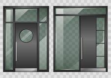 Reeks moderne ingangsdeuren royalty-vrije illustratie