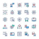 Reeks Moderne Technologiepictogrammen vector illustratie