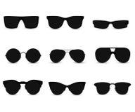 Reeks modieuze zonnebril stock illustratie