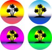 Reeks mooie tropische eilanden vector illustratie