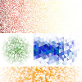 Reeks mozaïekachtergronden Stock Illustratie