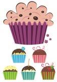Reeks muffins Stock Afbeelding