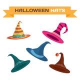 Reeks multi-colored hoeden voor Halloween Royalty-vrije Stock Foto
