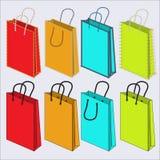 Reeks multi-colored zakken Royalty-vrije Stock Foto