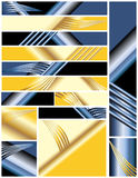Reeks multi de kleurengrootte van Banners Stock Afbeelding