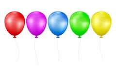Reeks multicolored ballons Stock Fotografie