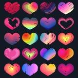 Reeks multicolored harten Royalty-vrije Stock Afbeeldingen