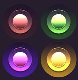 Reeks multicolored knopen Stock Afbeelding