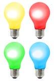 Reeks multicolored lampen Stock Afbeeldingen
