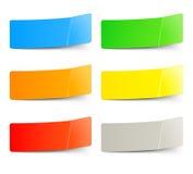 Reeks multicolored stickers stock illustratie