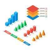 Reeks multicolored voorwerpen voor infographics Royalty-vrije Stock Afbeeldingen
