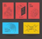 Reeks muziekaffiches Royalty-vrije Stock Fotografie