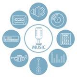 Reeks muziekpictogrammen vector illustratie