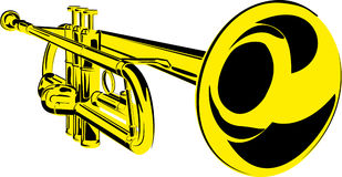 Reeks muzikale instrumenten royalty-vrije illustratie