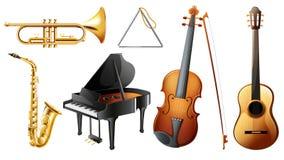 Reeks muzikale instrumenten Royalty-vrije Stock Afbeelding