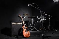 Reeks muzikale instrumenten Stock Afbeeldingen
