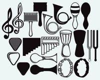 Reeks muzikale instrumenten stock illustratie