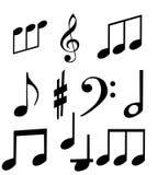 Reeks muzikale symbolen Royalty-vrije Stock Afbeelding