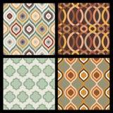 Reeks naadloze de herfstpatronen Abstract geometrisch behang Stock Fotografie
