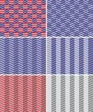 Reeks naadloze geometrische patronen Royalty-vrije Stock Foto