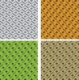 Reeks naadloze geometrische patronen Royalty-vrije Stock Afbeeldingen
