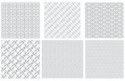 Reeks naadloze grijze geometrische patronen Stock Afbeelding