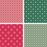 Reeks naadloze Kerstmispatronen in uitstekende stijl vector illustratie