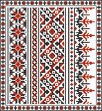 Reeks naadloze Oekraïense traditionele patronen Stock Foto's