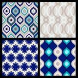 Reeks naadloze patronen Abstract geometrisch behang Vector Royalty-vrije Stock Afbeeldingen