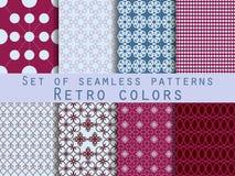 Reeks naadloze patronen geometrisch naadloos patroon De ontwerpen voor textiel en binnenland vector illustratie