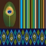 Reeks naadloze patronen in heldere kleuren Royalty-vrije Stock Fotografie