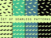 Reeks naadloze patronen met knuppels mystical Het patroon voor behang, bedlinnen, tegels, stoffen, achtergronden stock illustratie