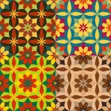 Reeks naadloze patronen van bloemen Royalty-vrije Stock Fotografie