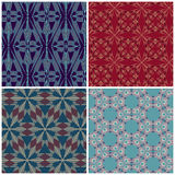 Reeks naadloze patronen voor tapijtwerk, vakmanschap vector illustratie
