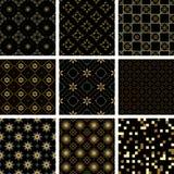 Reeks naadloze texturen Royalty-vrije Stock Foto