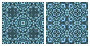 Reeks naadloze texturen Royalty-vrije Stock Afbeelding