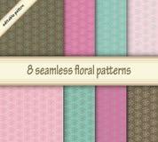 Reeks naadloze texturen Cherry Blossoms De lente naadloze textu Stock Afbeelding